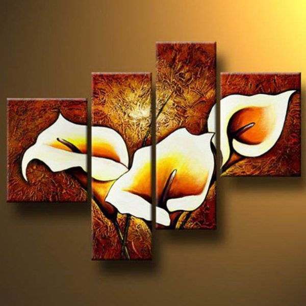 calla lilies flowers painting