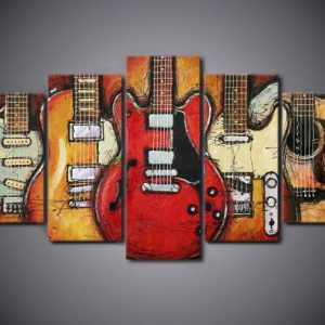 GUITAR 5 Panel WALL ART