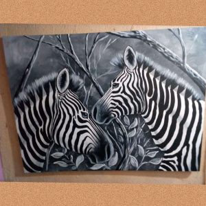 Zebra wall painting