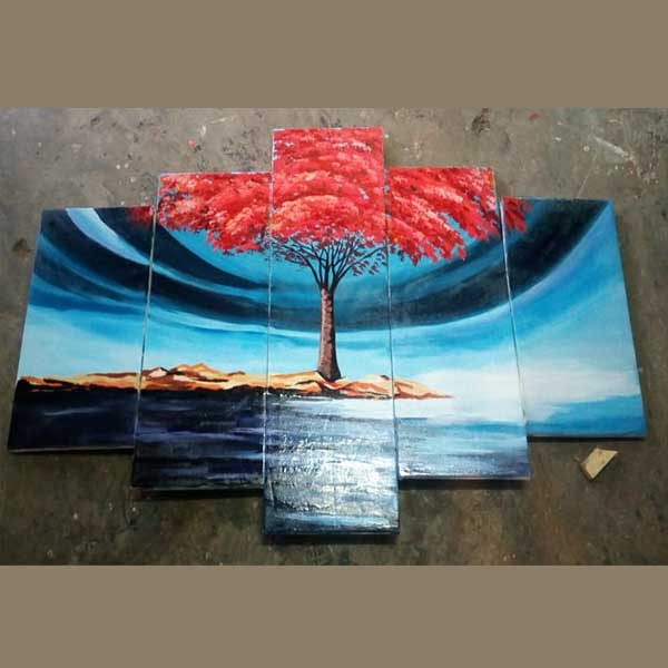 flame tree wall painting