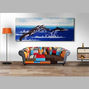 dolphin wall art painting
