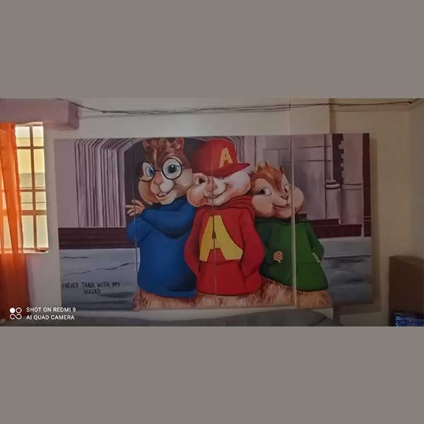 cartoon wall art